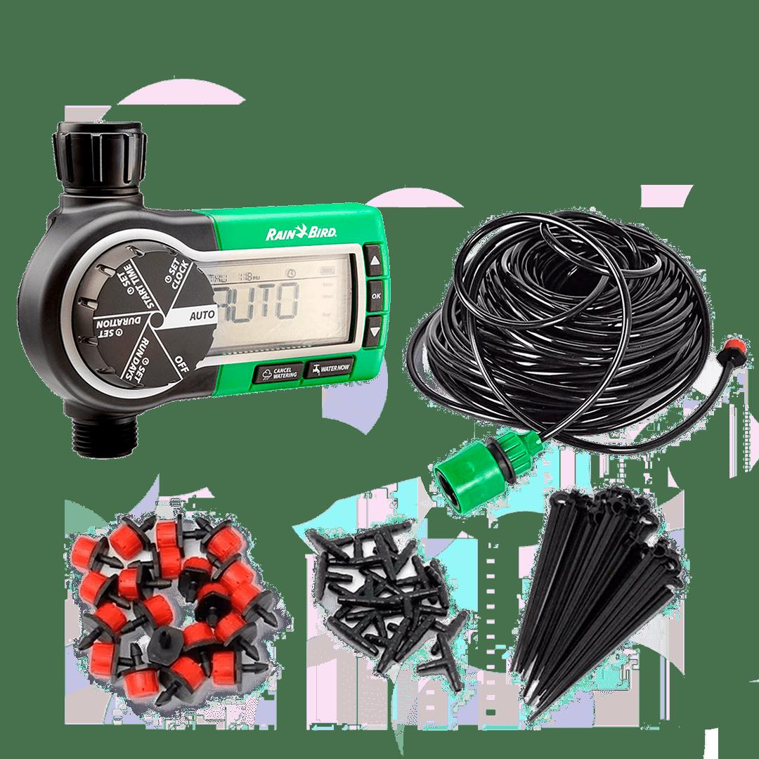 Kit Irrigação para vaso e jardim com programador temporizador automático Rain Bird