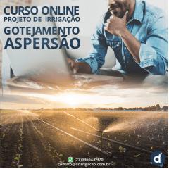 CURSO - COMO FAZER PROJETOS DE IRRIGAÇÃO LOCALIZADA E ASPERSÃO - ONLINE
