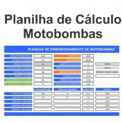Planilha de Calculo de Motobombas de Irrigacao e Elevacao de Agua Versão 1.4