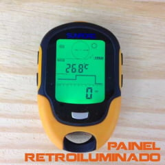 Barômetro Altímetro Digital C Bússola Multifunções