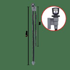 Kit Aspersor C/haste De Fibra 1m C/ Microtubo 1,5m