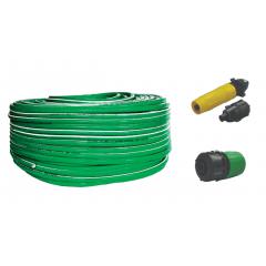 Kit Mangueira 30 metros Verde Trançada Megafortte Premium Unifortte